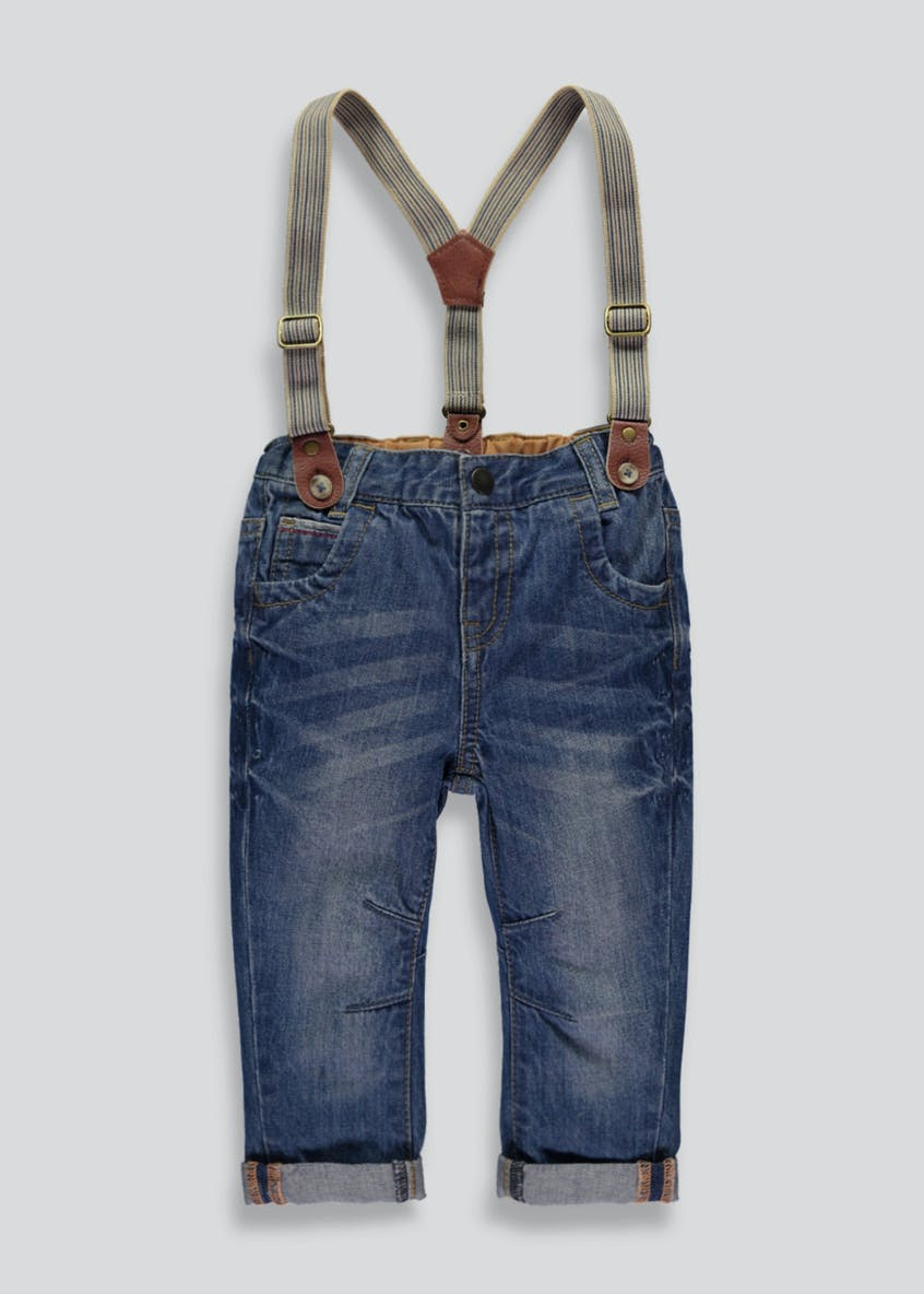 Boys Jeans with Braces (3mths-5yrs)