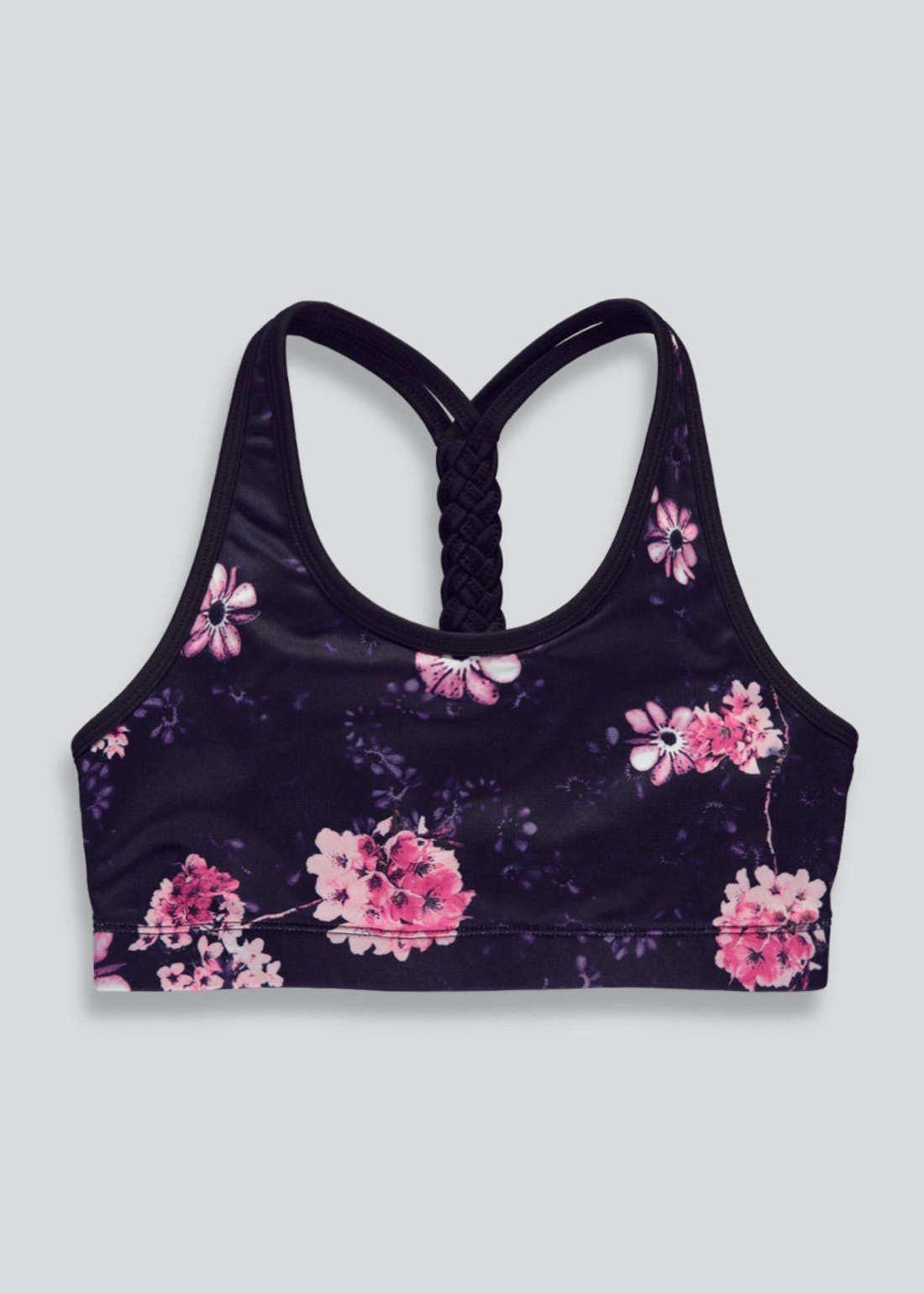 Girls Souluxe Floral Sports Crop Top (4-13yrs)