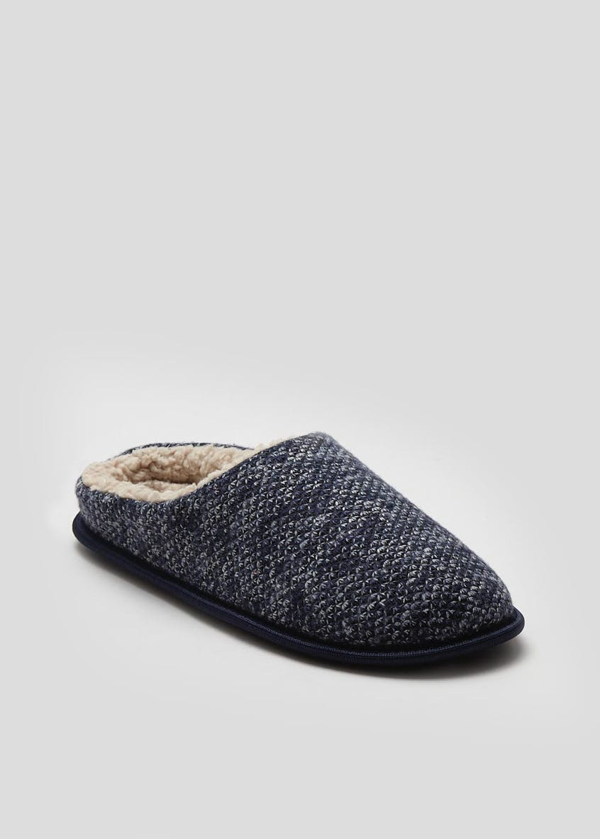 Memory Foam Knitted Mule Slipper
