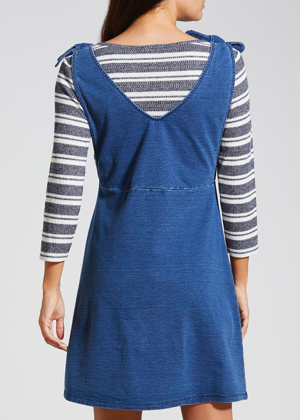 2 in 1 Denim Pinafore Dress – Midwash – Matalan