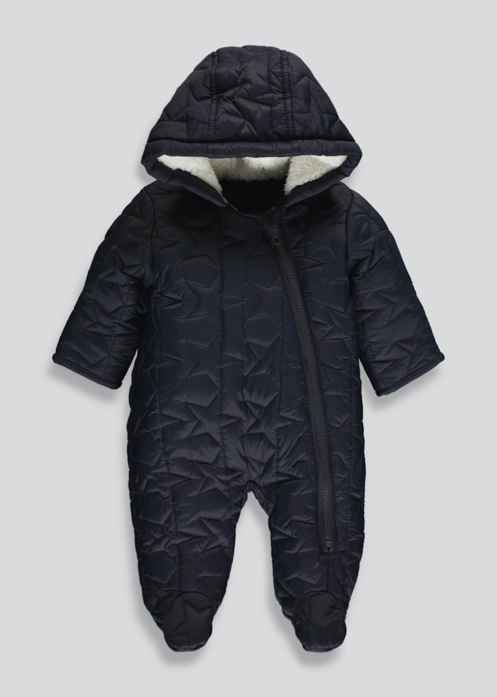 Unisex Quilted Snowsuit (Tiny Baby-18mths) – Matalan : quilted snowsuit for baby - Adamdwight.com
