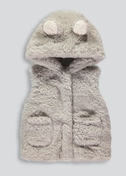 Girls Fur Gilet (3mths-5yrs)