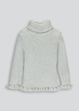 Girls Roll Neck Jumper (3mths-5yrs)