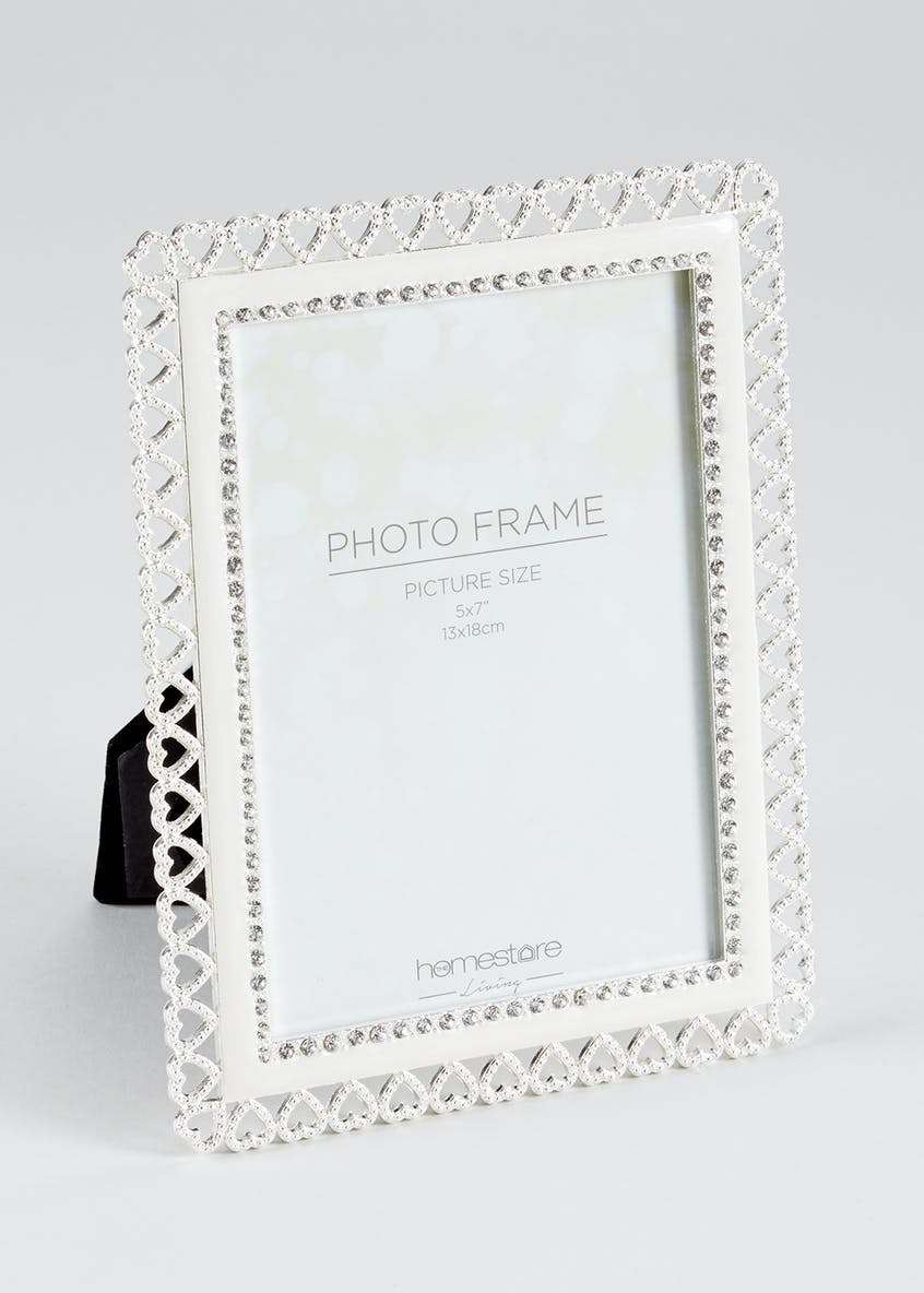 Heart Detail Photo Frame (22cm x 17cm)