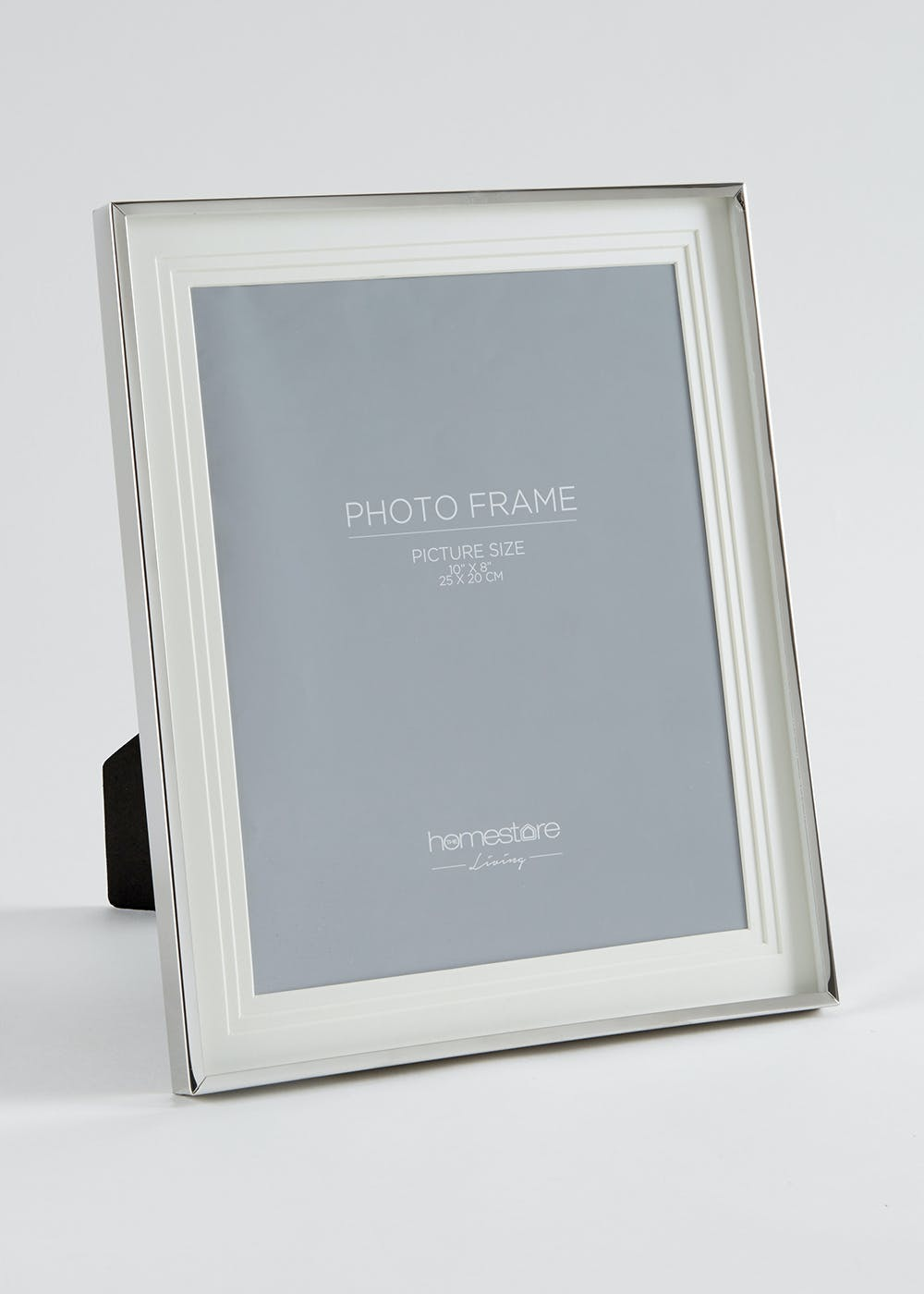 Stainless Steel Photo Frame 31cm X 26cm Silver Matalan