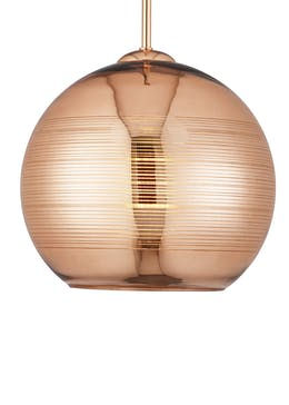 Soder Glass Pendant Light (H114cm-27cm x W25cm)