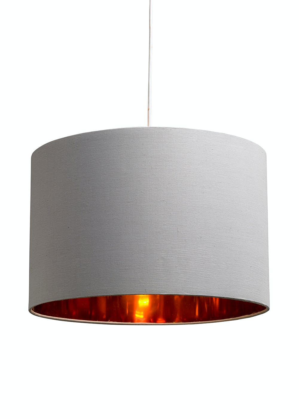 Bjorn drum easy fit lamp shade h23cm x w36cm grey matalan bjorn drum easy fit lamp shade h23cm x w36cm aloadofball Image collections