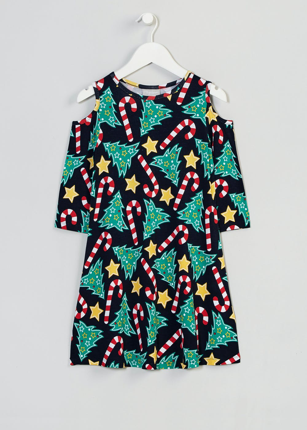 Girls Tree Novelty Christmas Dress (3-13yrs) – Multi – Matalan