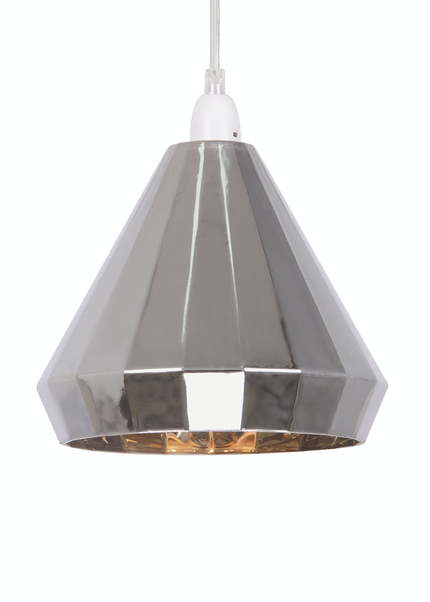 Holland Smoked Glass Easy Fit Lamp Shade (H19cm x W19cm)