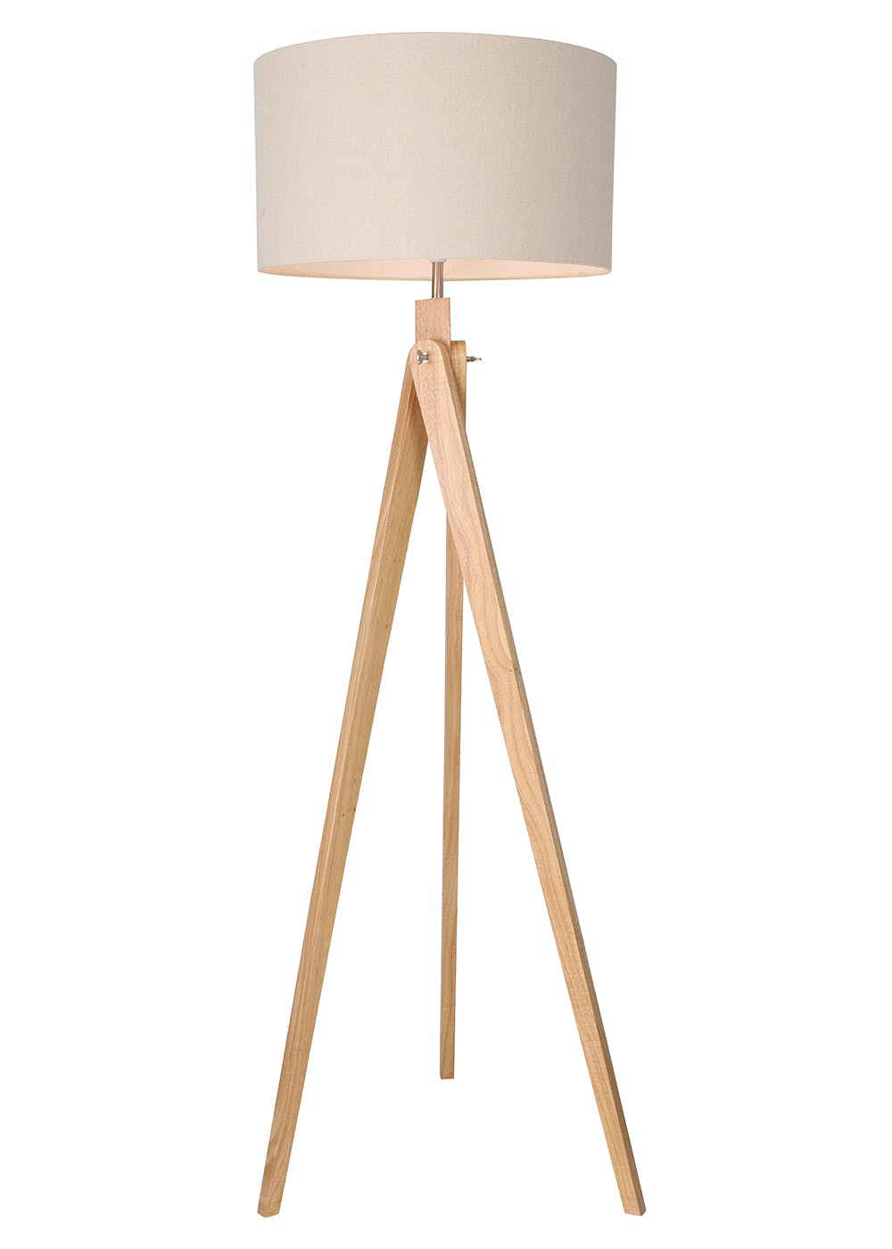 Como tripod floor lamp h153cm x w67cm brown matalan for Rose gold floor lamp uk