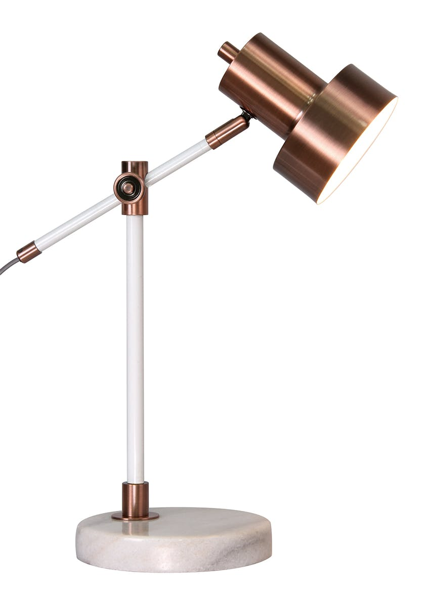Rossa Copper Task Table Lamp (H49cm x W36cm)