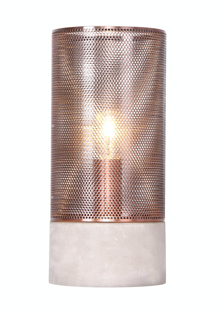 Raglan Copper Table Lamp (H27cm x W12cm)