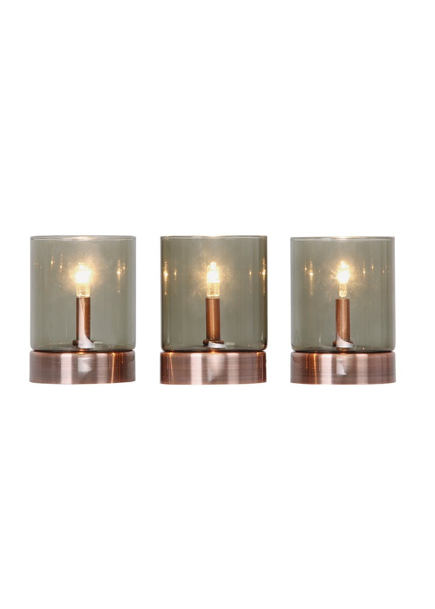 Griffin 3 Tealight Copper Table Lamp (H10cm)