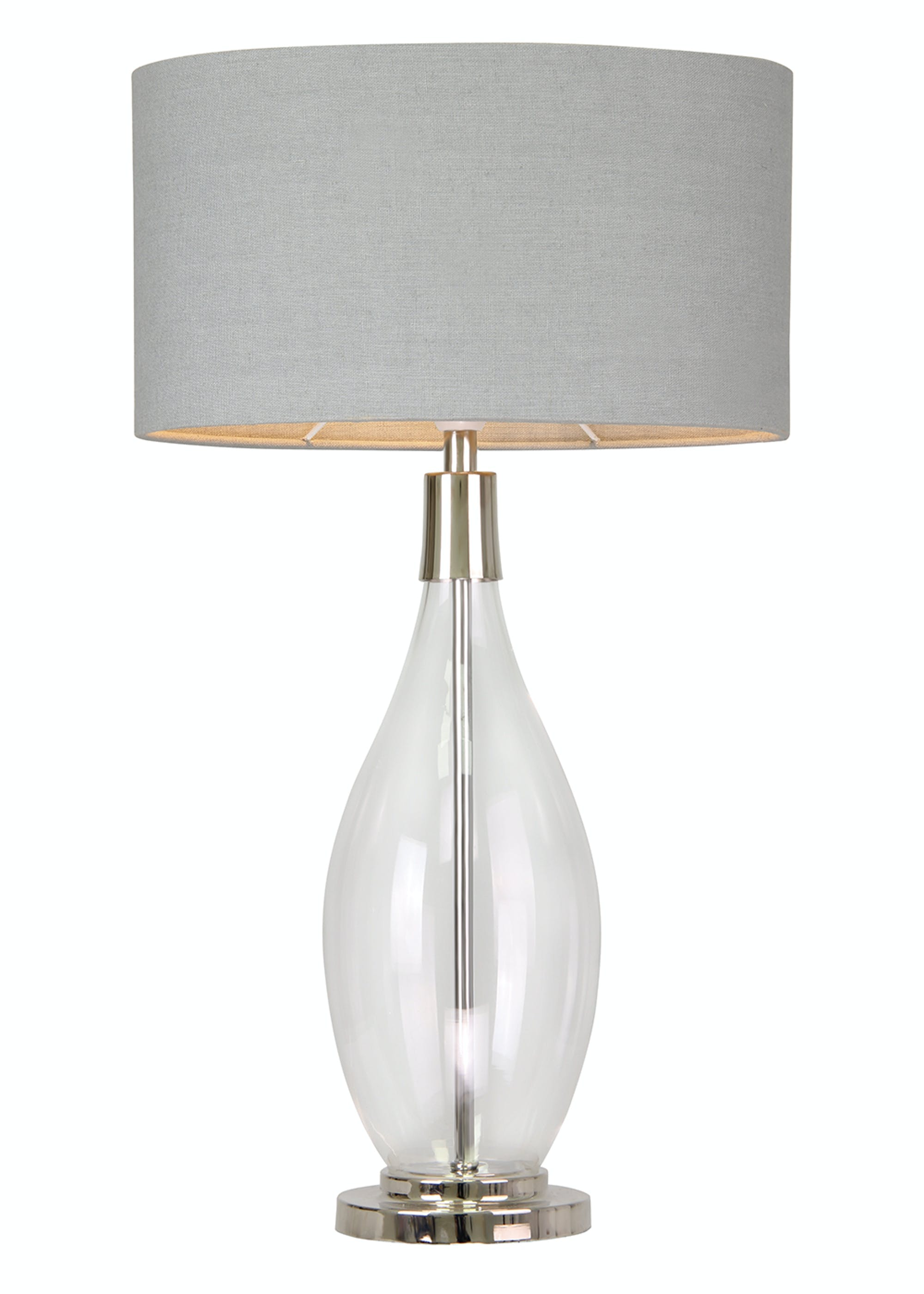 Hampstead Large Table Lamp (H74cm x W42cm) Clear 0AStYi