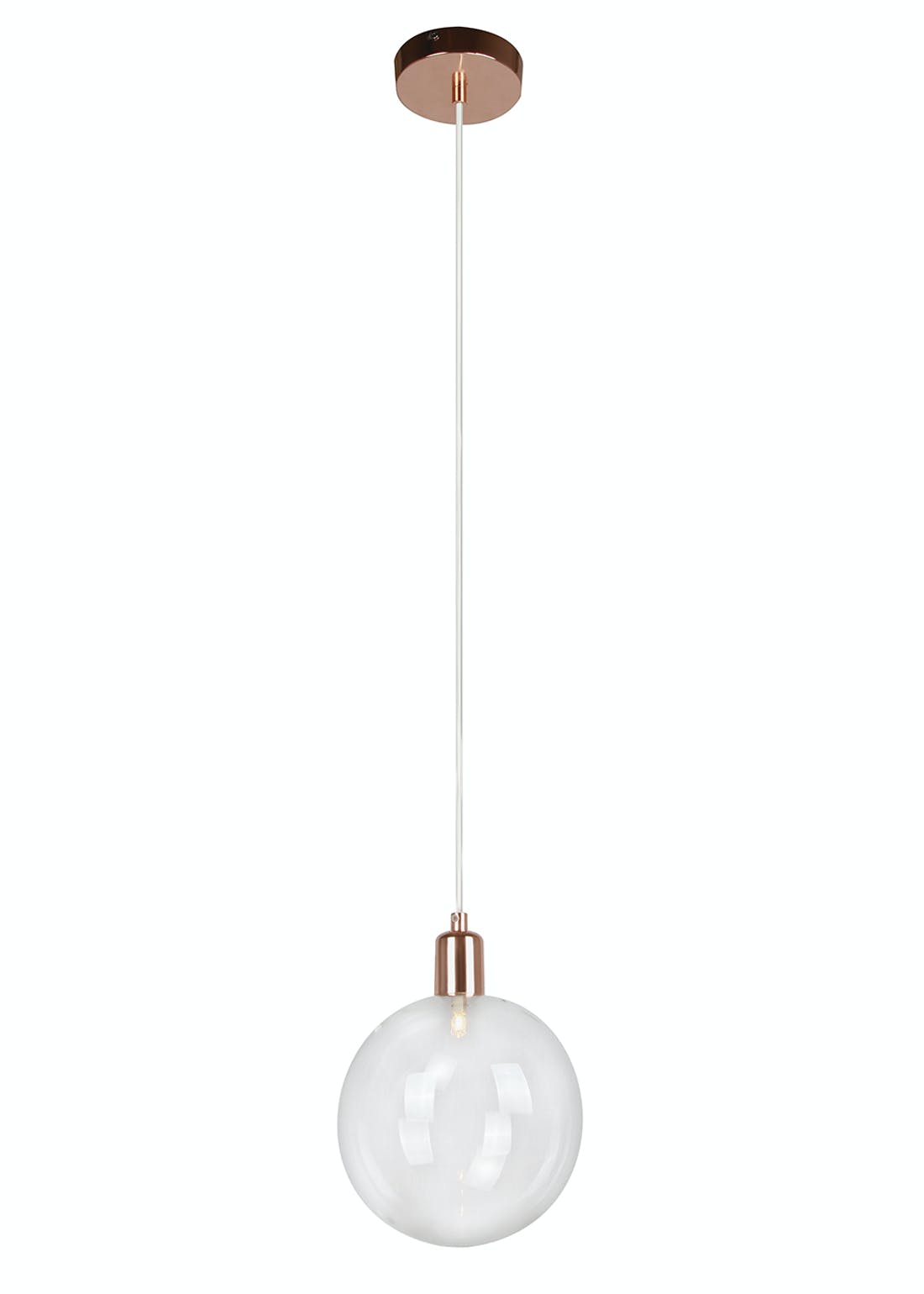 Byron Copper Pendant Light (H110cm-51cm x W18cm)