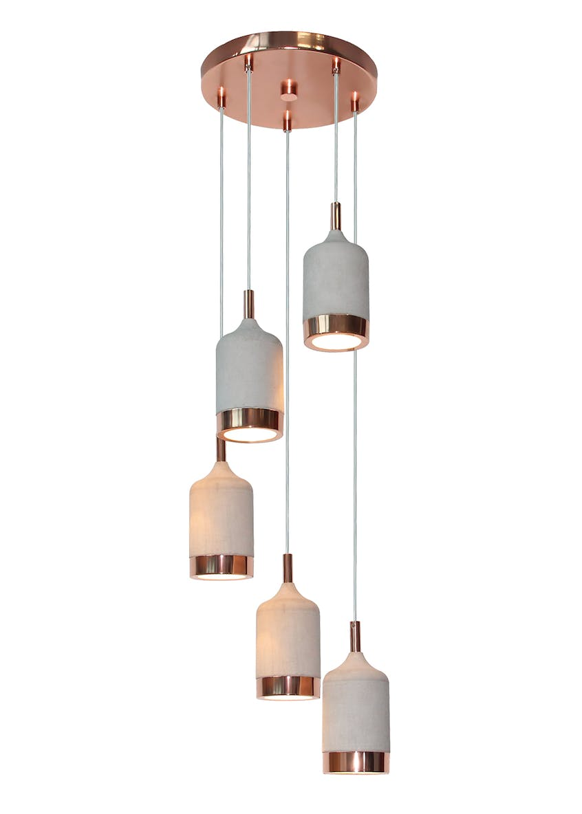 Hugo Copper Cluster Light (H140cm-40cm x W25cm)