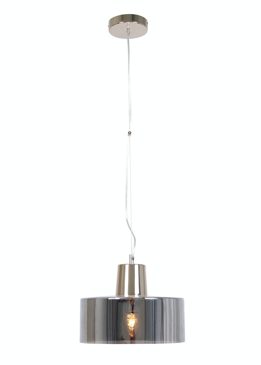 Emerson Smoked Pendant Light (H105cm-40cm x W30cm)