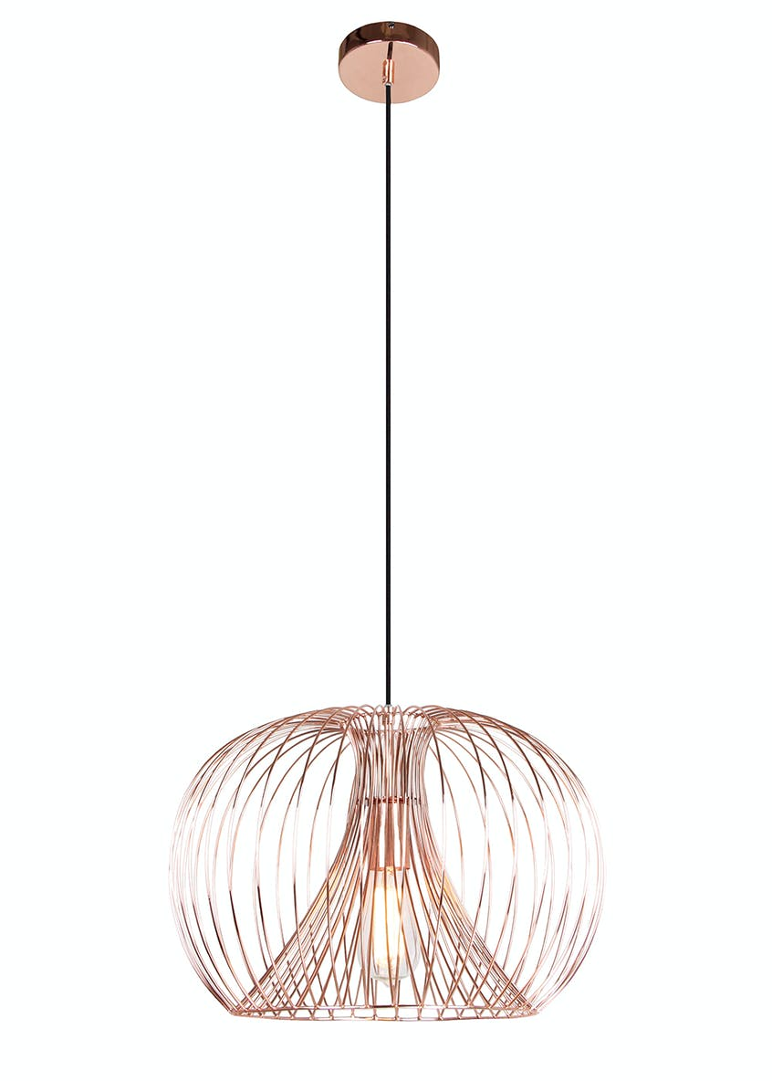 Alberta Copper Pendant Light (H87cm-40cm x W45cm)