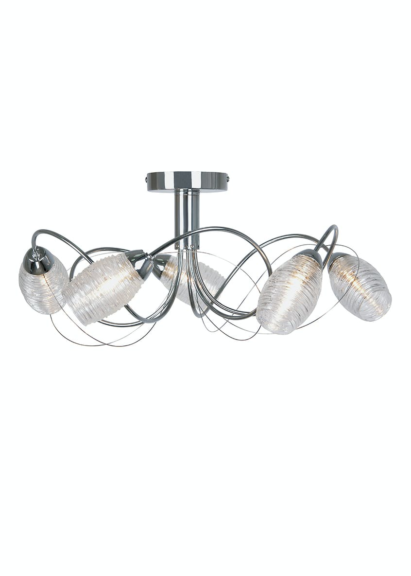 Blake 5 Arm Flush Light (H18cm x W45cm)