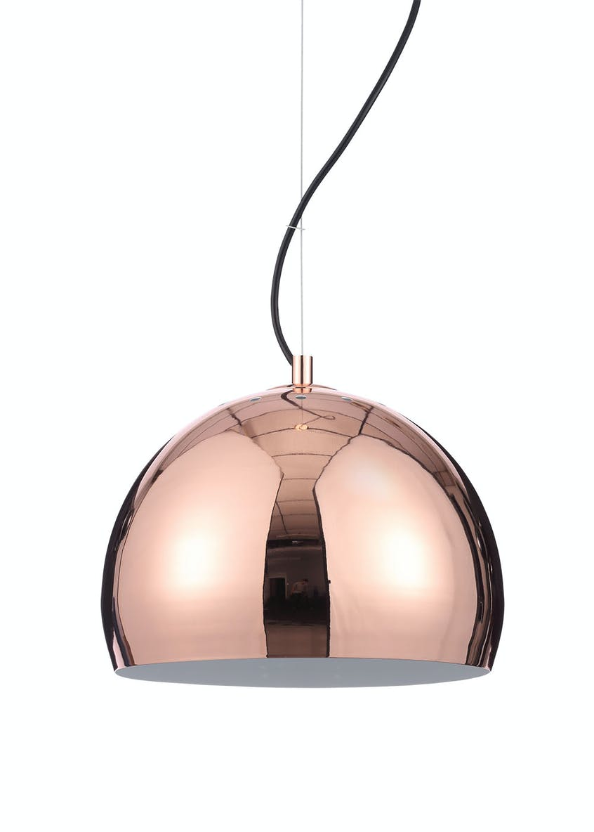 Luna Copper Ball Pendant Light (H130cm-120cm x W42cm)
