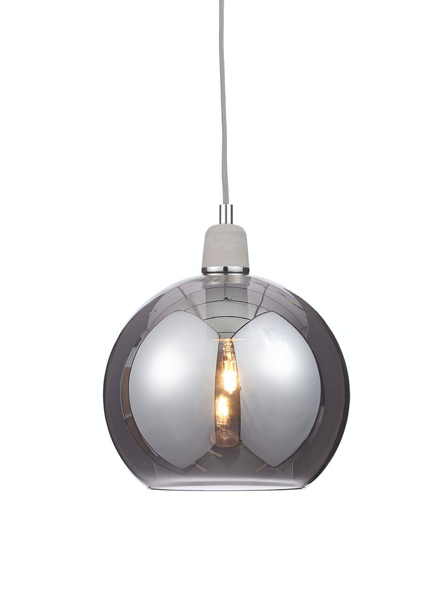 Ida Smoke Ball Pendant Light (H120cm-30cm x W25cm)