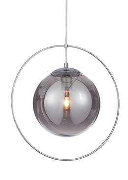 Mars Smoked Pendant Light (H100cm-42cm x W42cm)