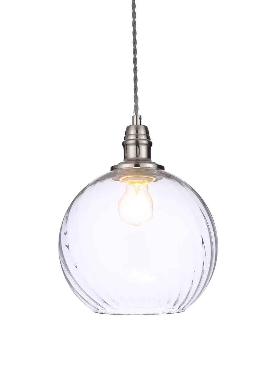 Eugenia Glass Pendant Light (H100cm-31cm x W25cm)