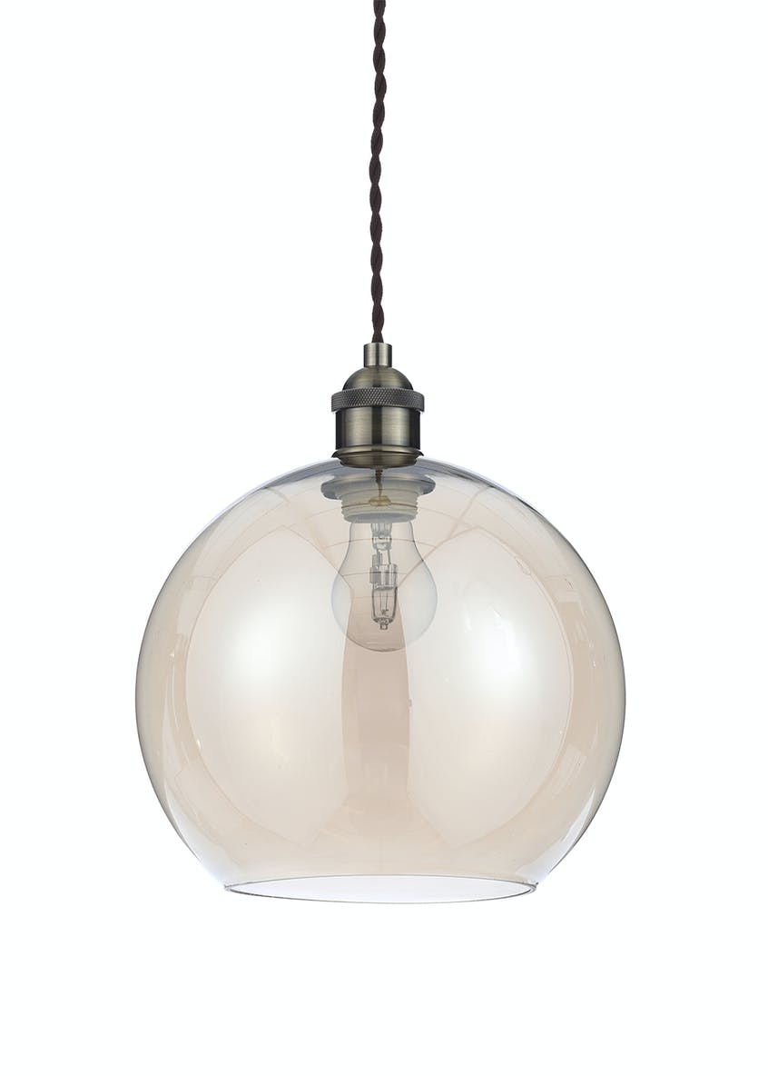Gaspra Glass Pendant Light (H100cm-31cm x W25cm)