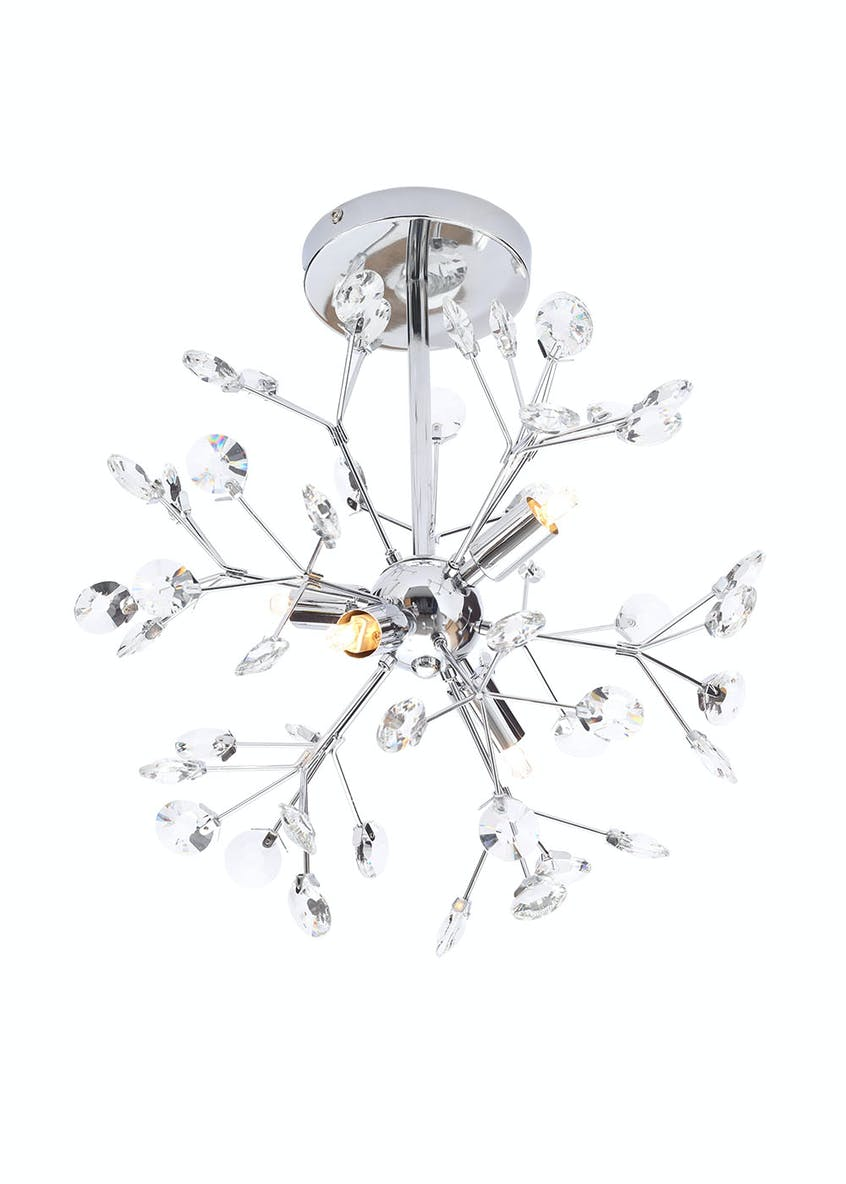 Saturn Crystal Glass Flush Light (H30cm x W50cm)