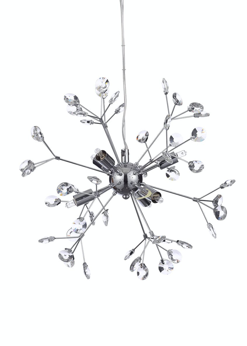 Saturn Crystal Glass Pendant Light (H127cm-30cm x W45cm)
