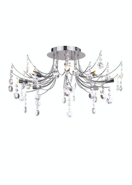 Eris Crystal Flush Light (H39cm x W50cm)