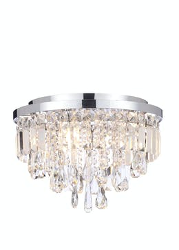 Vesta Crystal Glass Flush Light (H26cm x W35cm)