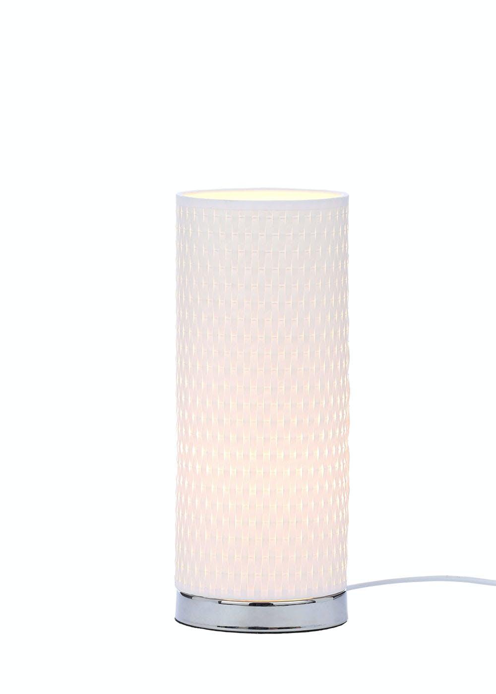 Palermo cylinder table lamp h30cm x w12cm white matalan palermo cylinder table lamp h30cm x w12cm aloadofball Image collections