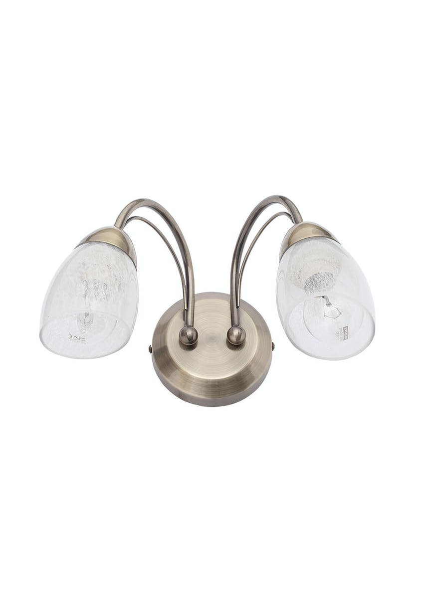 Zeus 2 Arm Wall Light (H17cm x W21cm)