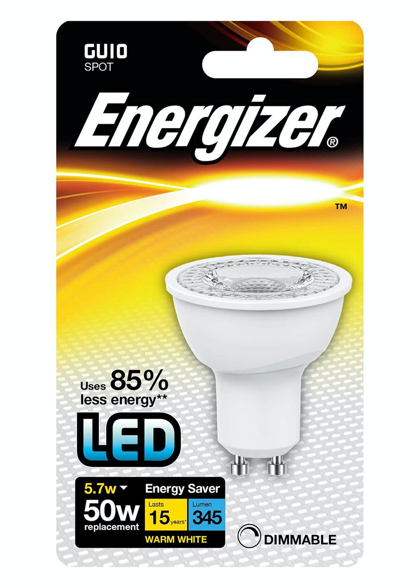 LED GU10 Warm White Bulb (5.7W)