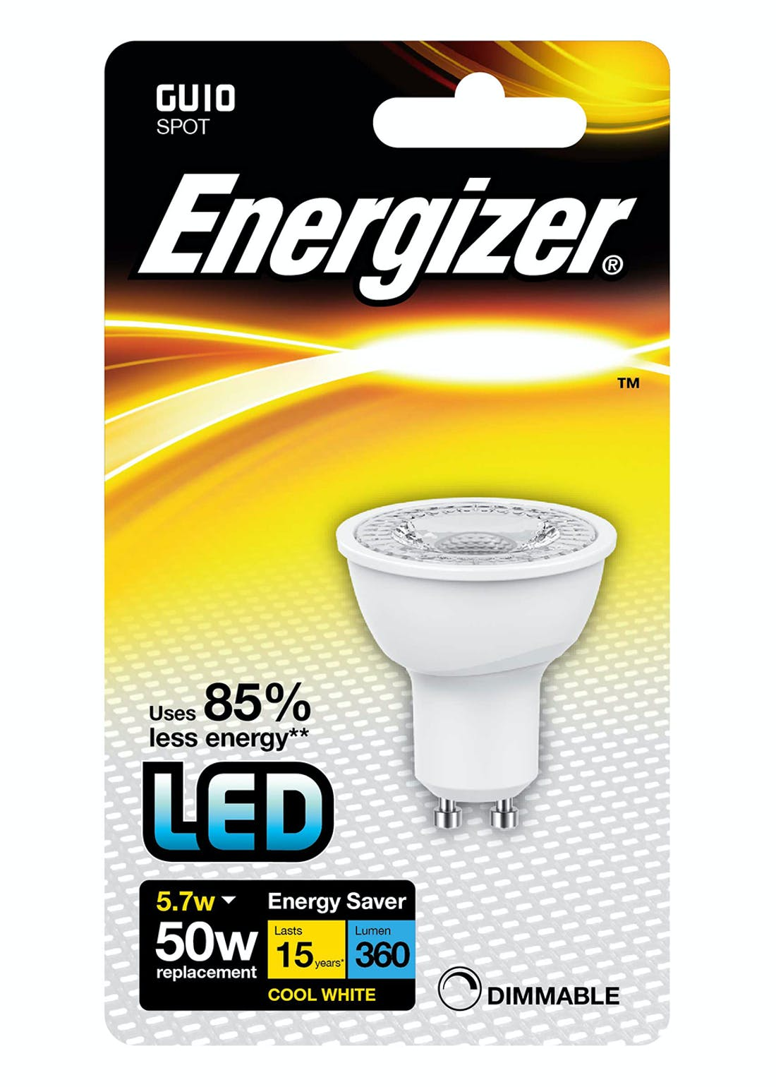 LED GU10 Cool White Bulb (5.7W)