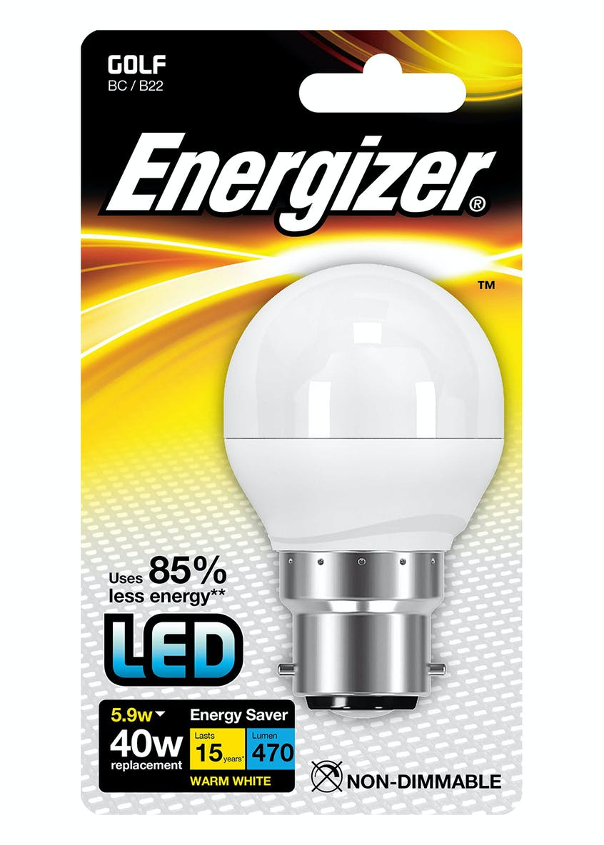 LED B22 Warm White Bulb (5.9W)