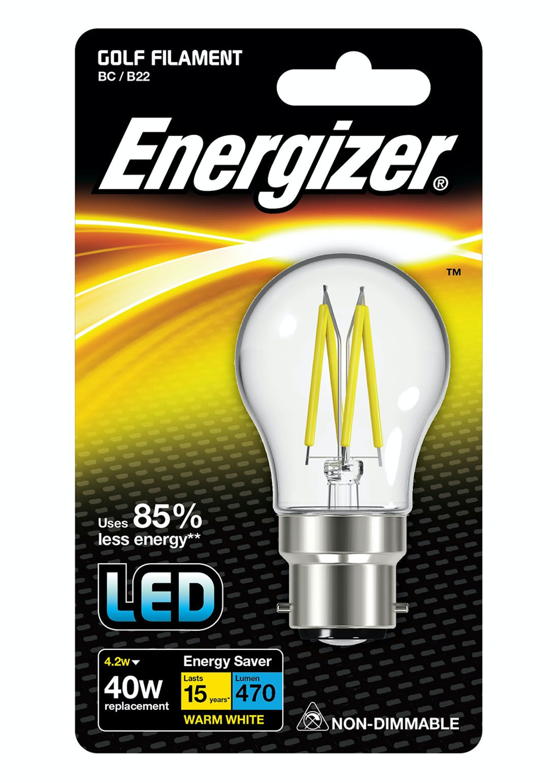 LED B22 Warm Filament Bulb (4.2W)