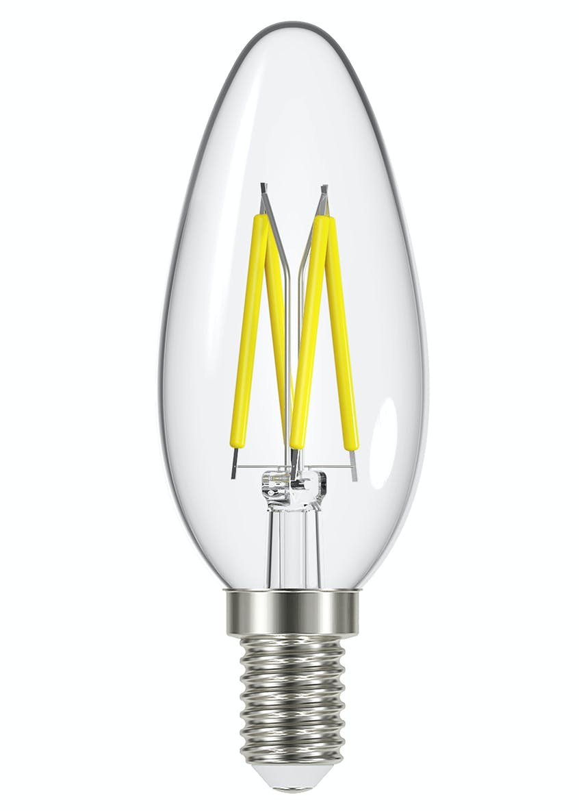 LED E14 Warm Filament Candle Bulb (4W)