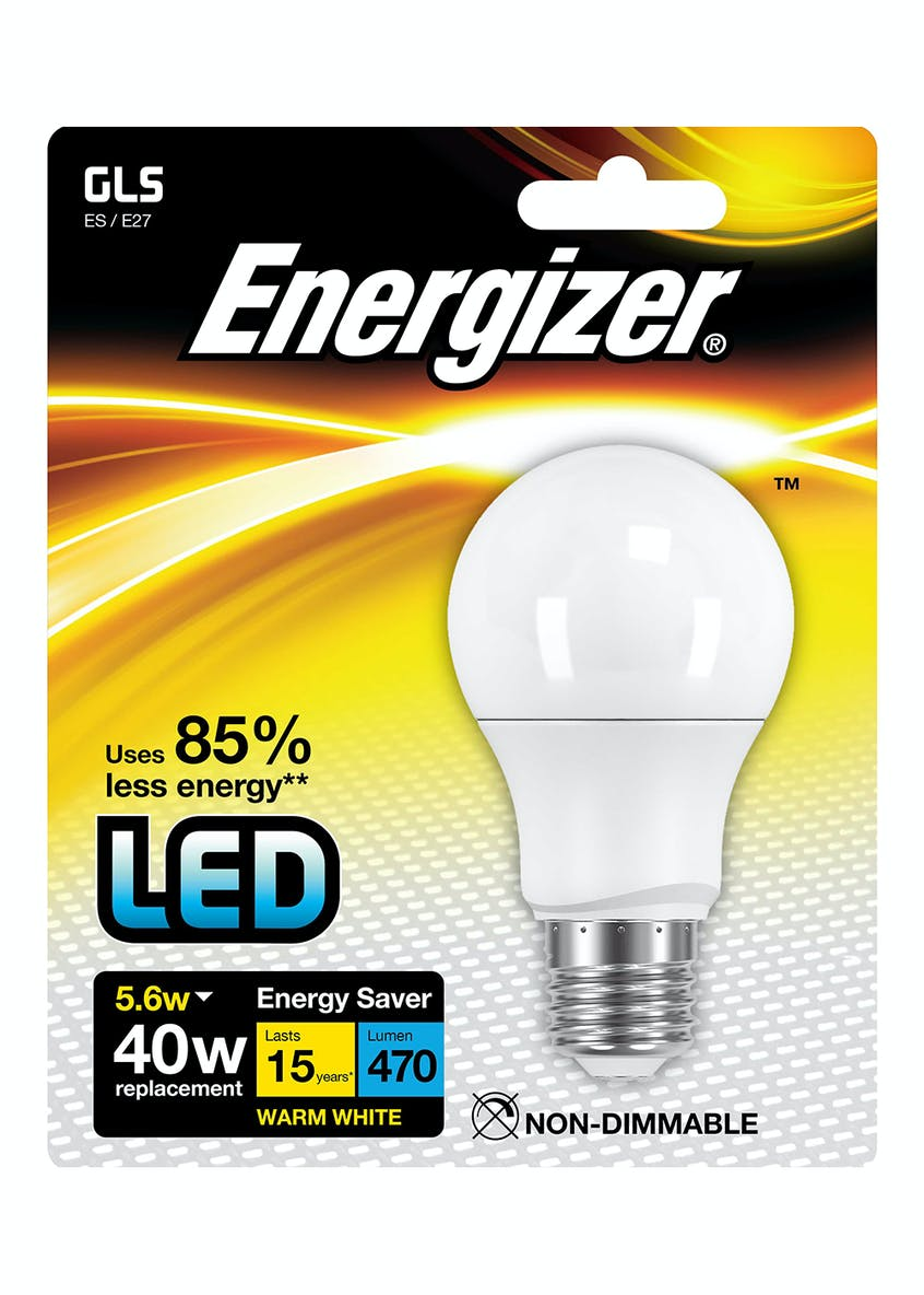 LED E27 Warm White Bulb (5.6W)