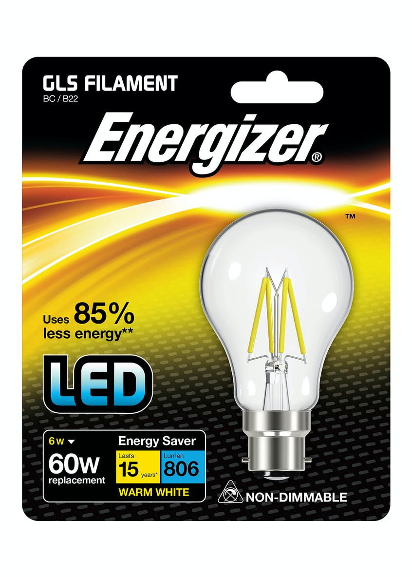 LED B22 Warm Filament Bulb (6W)