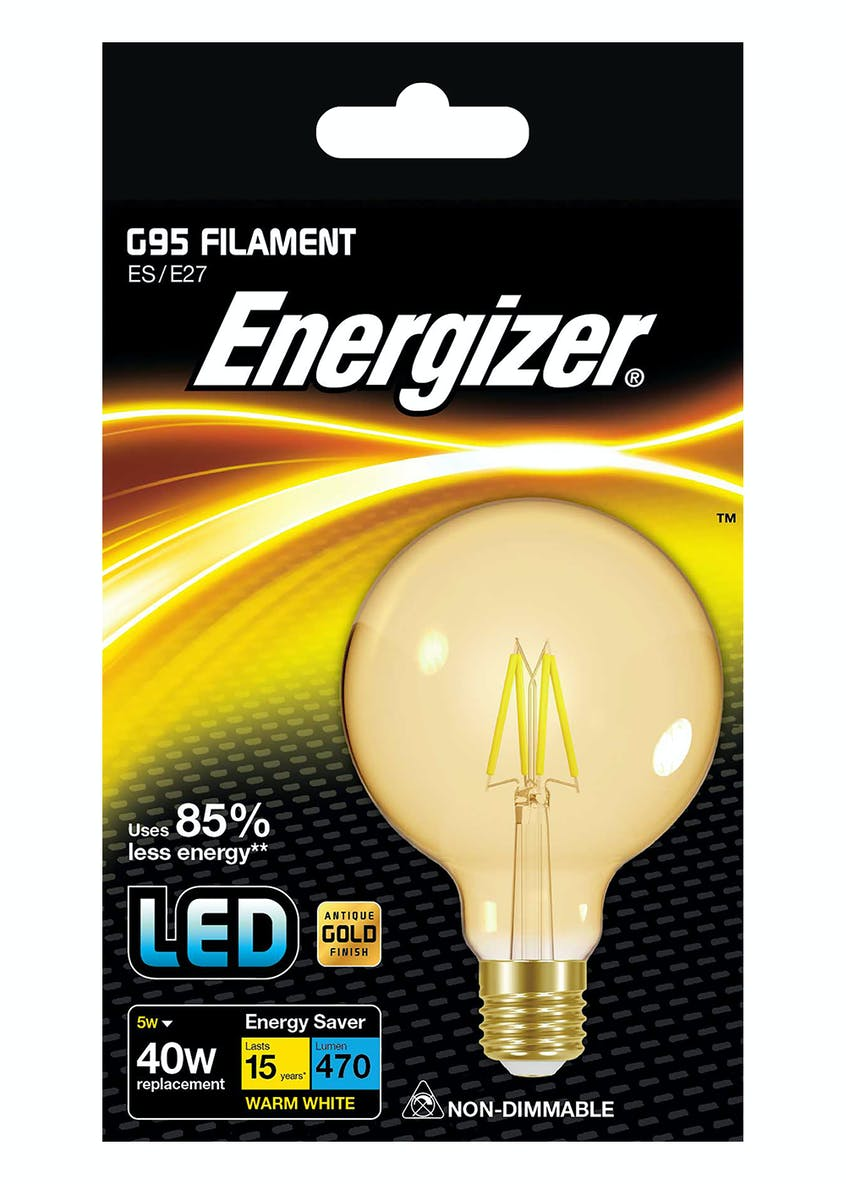 LED E27 Warm Filament Bulb (5W)