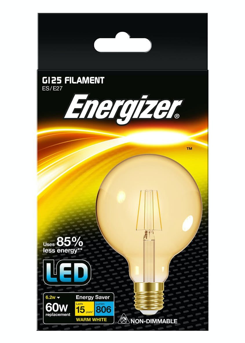 LED E27 Warm Filament Bulb (6.2W)