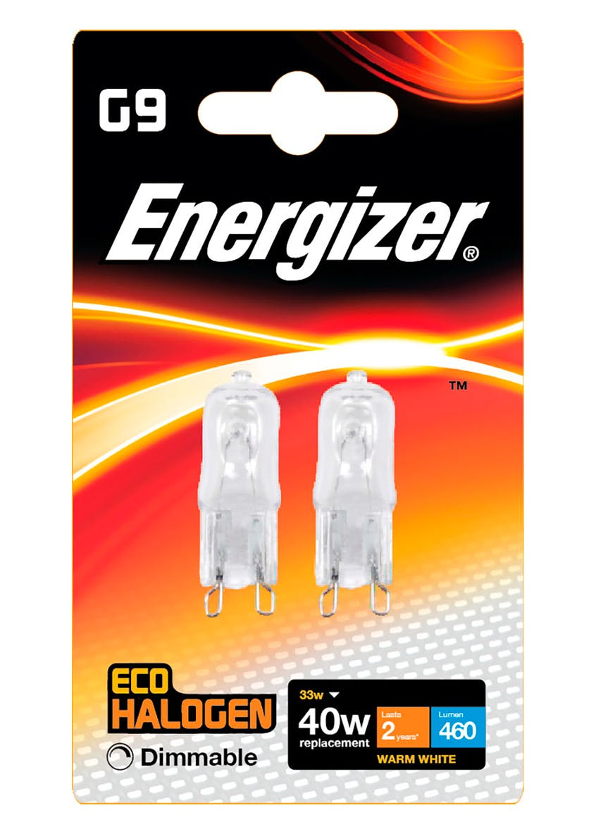 2pk Eco-Hal G9 Dimmable Warm Bulbs (33W)