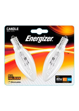 2pk Eco-Hal E14 Dimmable Warm Candle Bulbs (33W)