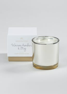 Boxed Warm Amber & Fig Candle (11cm x 11cm x 10cm)