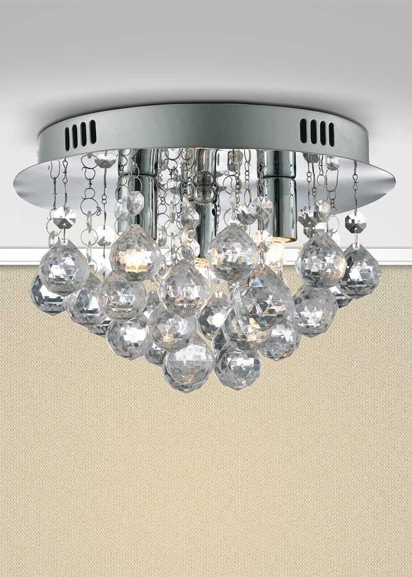 Saxby Flush Ceiling Light (H16cm x W25cm)