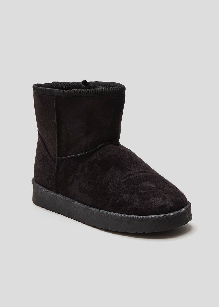 Short Fur Lined Winter Boots