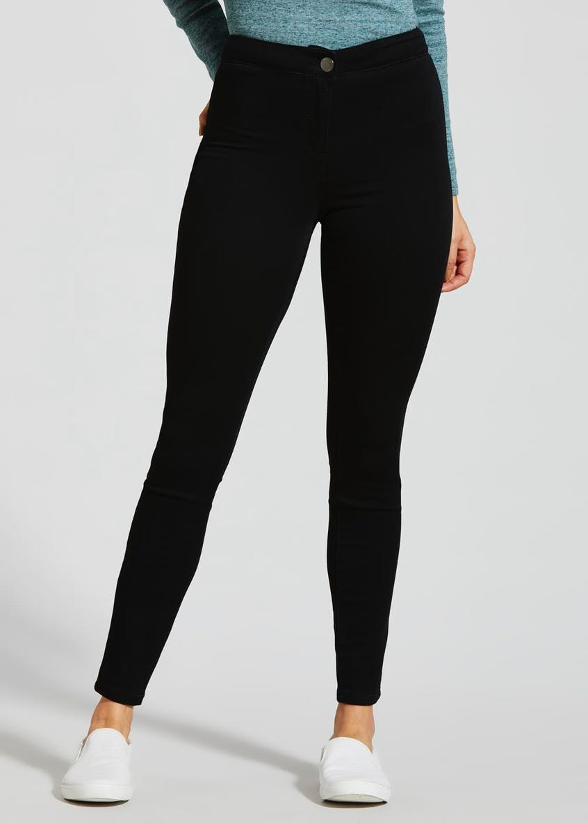 Jessie High Waisted Jeans – Black – Matalan