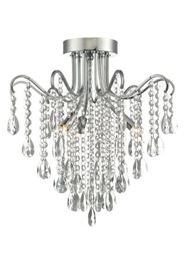 Mia Crystal Glass Flush Chandelier (H40cm x W40cm)